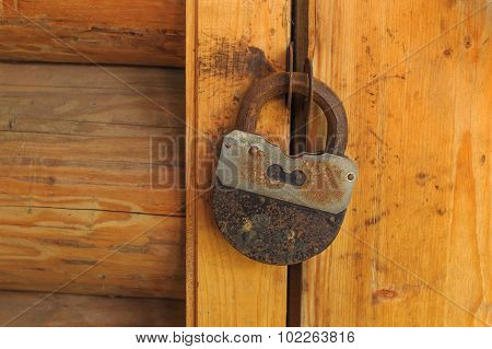 wooden door is locked