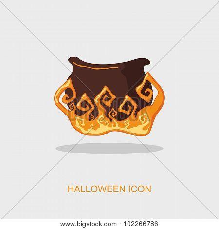 Halloween Witch Cauldron Icon