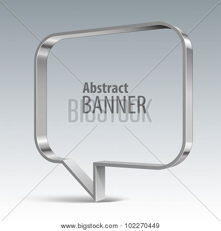 Shiny Metal Vector Vector Banner. Eps 10