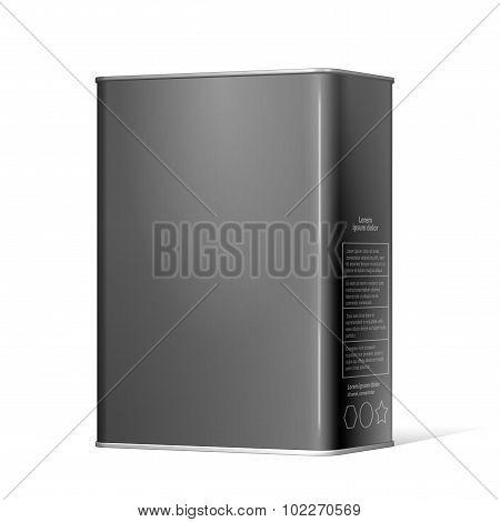 Black Package Metal Box