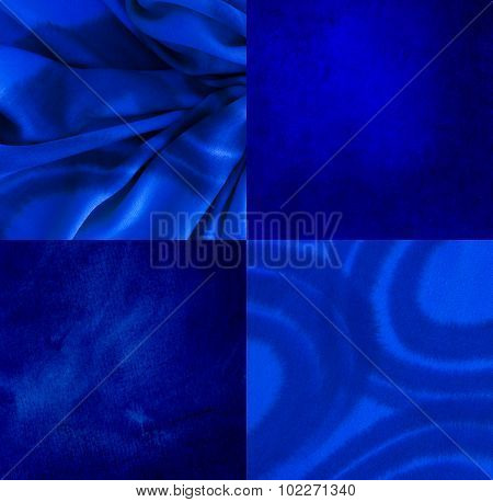 Indigo Abstract Background - Color Shading Texture