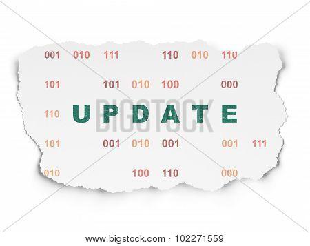 Web design concept: Update on Torn Paper background