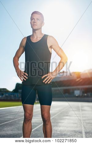 Male Athlete Preparing For A Run