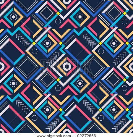 Abstract modern geometric seamless pattern.