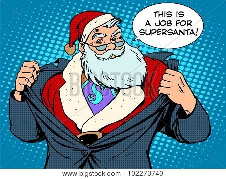 Santa Claus super hero