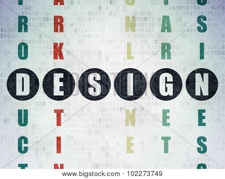 Marketing concept: Design in Crossword Puzzle