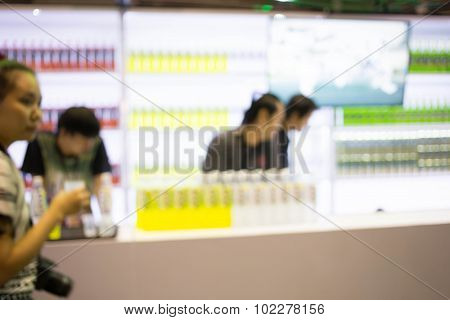 Blur Image, Bar Counter And Background