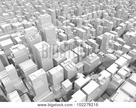 Office Buildings And Skyscrapers, 3D Illustration