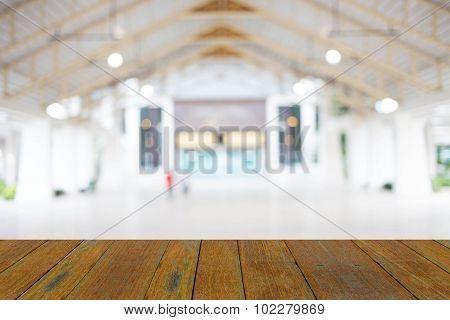 Blurred Background, Modern Hall.
