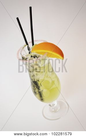 Coctail Temptation  Isolated On A White Background