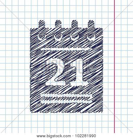 Vector calendar icon. Eps10
