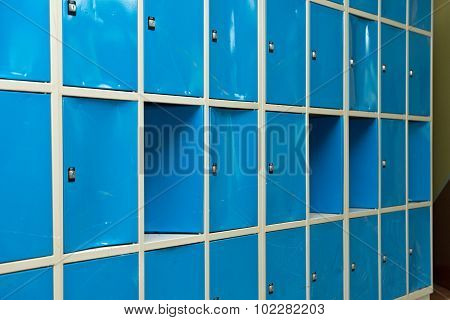 Blue Lockers In The Room