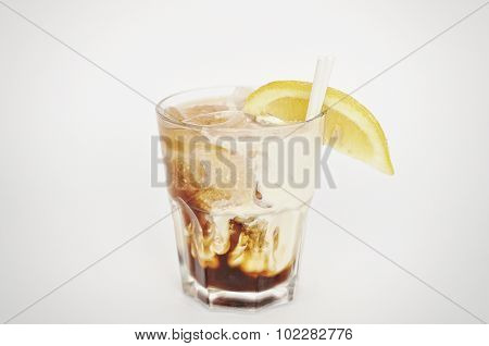 Cocktail White Russian Isolated On The White Background