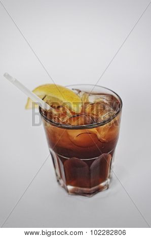 Cocktail Black Russian Isolated On The White Background