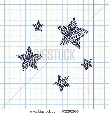 Vector stars icon. Eps10