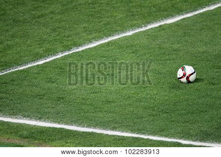 The Ball Of Paok Team During Team Practice In Thessaloniki, Greece.