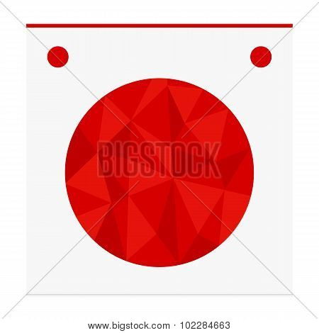 Geometric shape from triangles. Circle