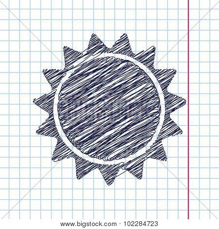 Vector sun icon. Eps10