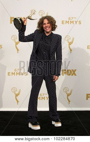 LOS ANGELES - SEP 20:  Jill Soloway at the Primetime Emmy Awards Press Room at the Microsoft Theater on September 20, 2015 in Los Angeles, CA