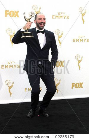 LOS ANGELES - SEP 20:  Tony Hale at the Primetime Emmy Awards Press Room at the Microsoft Theater on September 20, 2015 in Los Angeles, CA