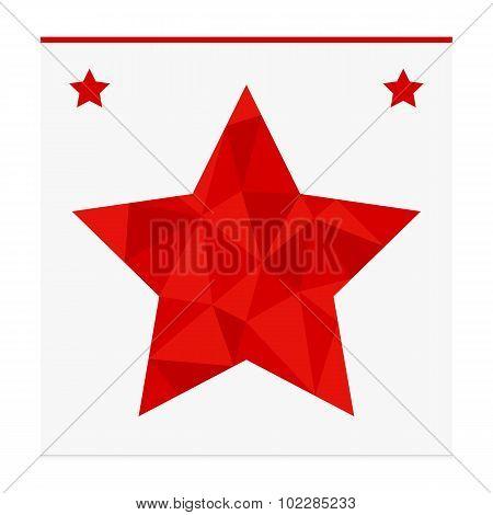 Geometric shape from triangles. Star