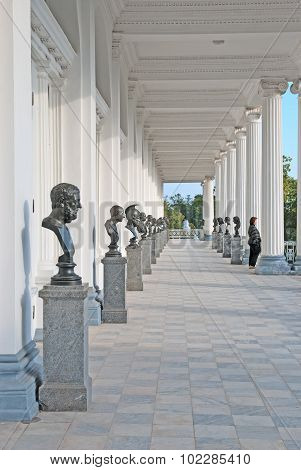 Tsarskoye Selo (Pushkin). Saint-Petersburg. Russia. The Cameron Gallery