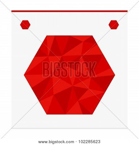 Geometric shape from triangles. Hexagon