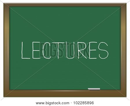 Lectures Concept.
