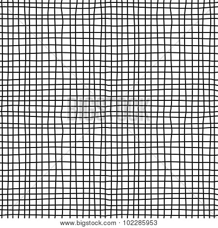 Canvas material black and white seamless pattern