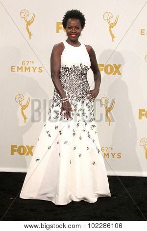 LOS ANGELES - SEP 20:  Viola Davis at the Primetime Emmy Awards Press Room at the Microsoft Theater on September 20, 2015 in Los Angeles, CA