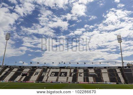 The Toumpa Stadium During Team Practice In Thessaloniki, Greece.