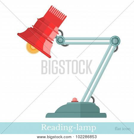 flat reading-lamp isolated on white