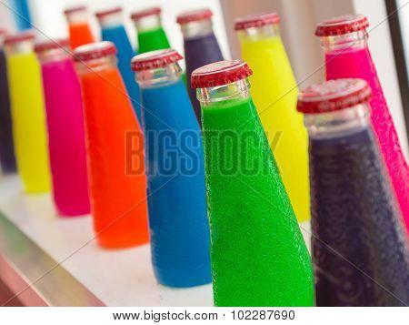 Fluorescent Colorful Aperitif Bottle Drinks