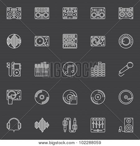 DJ icons or logo elements