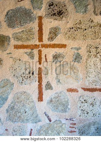 cross sign on grand meteor church in meteora greece
