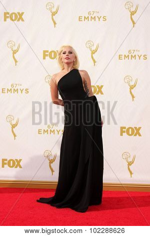 o909LOS ANGELES - SEP 20:  Lady Gaga at the Primetime Emmy Awards Arrivals at the Microsoft Theater on September 20, 2015 in Los Angeles, CA