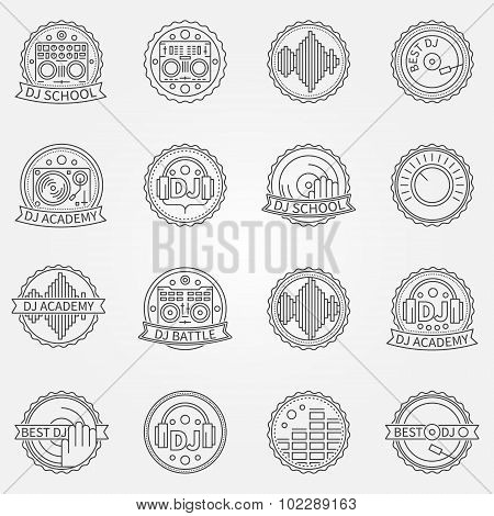 DJ labels or badges