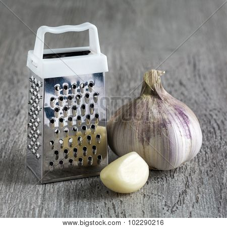 Grater Garlic.  Macro