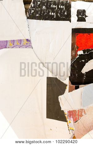 Abstract Grunge Background With Old Torn Posters