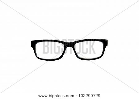 Black Nerd Glasses Isolated On White