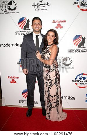 LOS ANGELES - SEP 19:  Tanner Tolbert, Jade Roper at the 5th Annual American Humane Association Hero Dog Awards at the Beverly Hilton Hotel on September 19, 2015 in Beverly Hills, CA