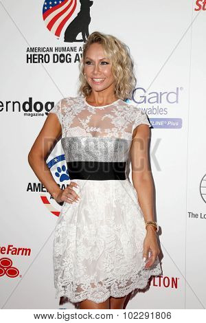 LOS ANGELES - SEP 19:  Kym Johnson at the 5th Annual American Humane Association Hero Dog Awards at the Beverly Hilton Hotel on September 19, 2015 in Beverly Hills, CA