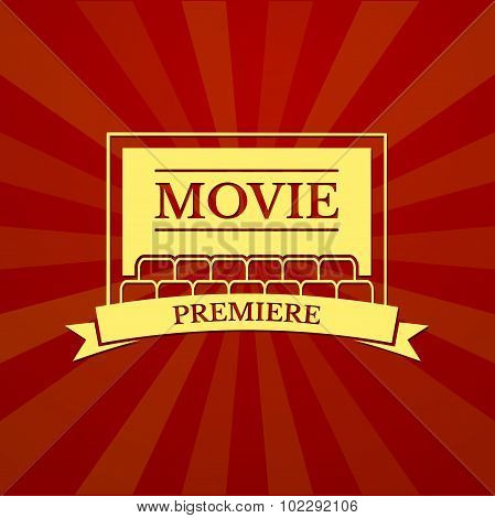 Movie premiere, vector typography