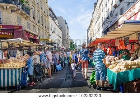 Marche d'Aligre is one of the busiest open air markets in Paris