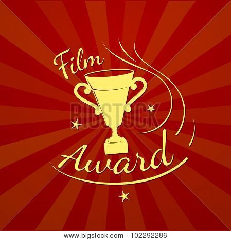 Folm award, vector typography