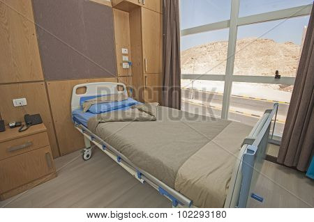 Bed In A Hospital Ward