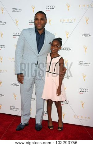 LOS ANGELES - SEP 19:  Anthony Anderson, Marsai Martin at the 67th Emmy Awards Performers Nominee Reception at the Pacific Design Center on September 19, 2015 in West Hollywood, CA
