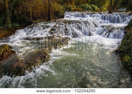 Waterfalls At Monasterio De Piedra, Zaragoza, Aragon, Spain
