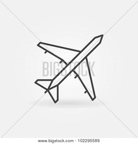 Plane linear icon