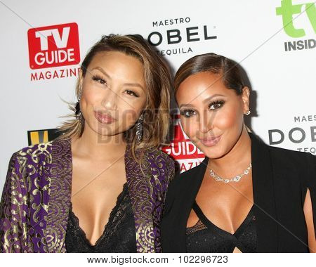 LOS ANGELES - SEP 18:  Jeannie Mai, Adrienne Bailon at the TV Industry Advocacy Awards Gala at the Sunset Tower Hotel on September 18, 2015 in West Hollywood, CA